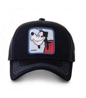 Men's Capslab Disney Goofy Black Trucker Cap