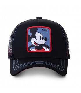 Men's Capslab Disney Mickey Black Trucker Cap