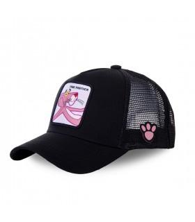 Men's Capslab Pink Panther Black Trucker Cap