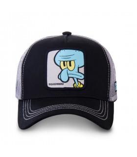 Casquette Capslab trucker Sponge Bob Squidward Noir