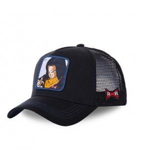 Men's Capslab Dragon Ball Z C-17 Black Trucker Cap
