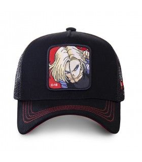 Casquette trucker Capslab Dragon Ball Z C-18 Noir