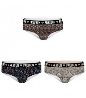 Lot de 3 Boxers Fille MISS FREEGUN Motifs Multicoloree