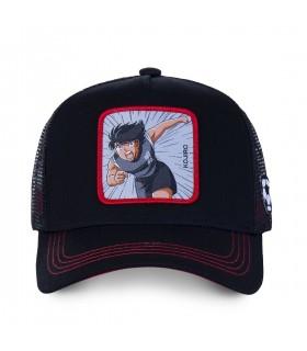 Men's Capslab Captain Tsubasa Kojro Black Trucker Cap