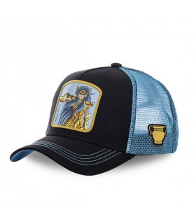 Saint Seiya Aquarius Black Cap with mesh