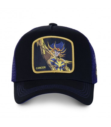 Saint Seiya Cancer Black Cap with mesh