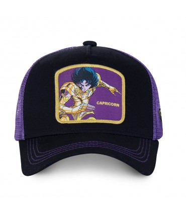 Men's Capslab Saint Seiya Capricorn Black Trucker Cap