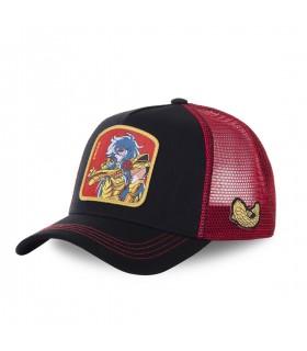 Men's Capslab Saint Seiya Pisces Black Trucker Cap
