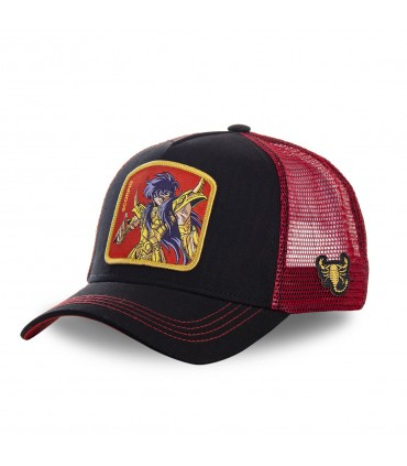Men's Capslab Saint Seiya Scorpio Black Trucker Cap
