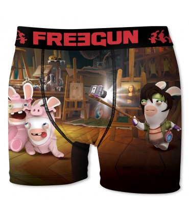 Boxer Homme Freegun Lapins Crétins Photo