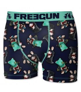 Lot de 2 boxers Homme Freegun Lapins Crétins Multicolore