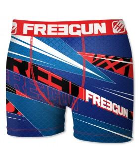 Boxers Garçon Freegun Racing bleu et rouge