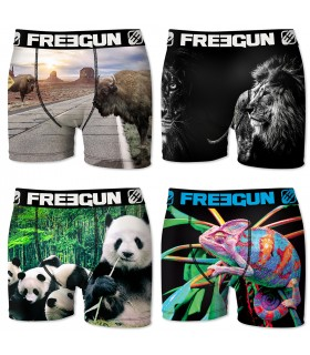 Lot de 4 boxers Garçon Freegun Multicolore