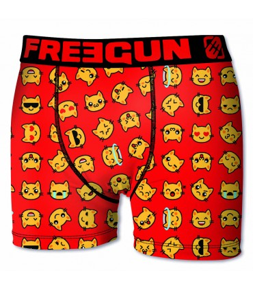 Lot de 6 boxers Garçon Freegun Smileys Multicolore