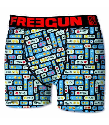 Lot de 6 boxers Homme Freegun Smileys Multicolore
