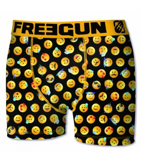 Lot de 6 boxers Homme Freegun Emotiks Multicolore