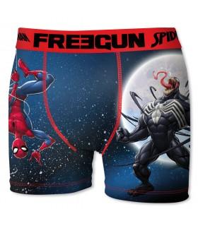 Boxer Homme Freegun Spider Man Moon Bleu et Rouge