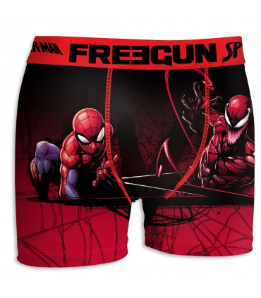 Boxer Homme Freegun Spider Man Scorpion Rouge et Noir