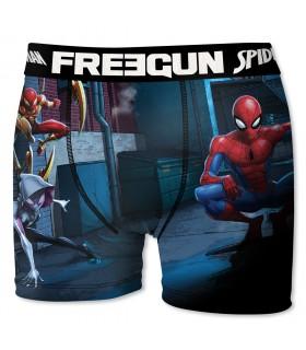 Boxer Garçon Freegun Spider Man Team Bleu et Rouge