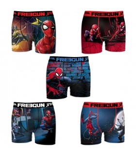 Lot de 5 Boxers Freegun garçon Spider Man Savior