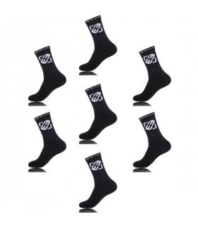 Lot de 7 paires de chaussettes tennis homme Noir