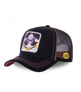 Men's Capslab Dragon Ball Z Buu Black Trucker Cap