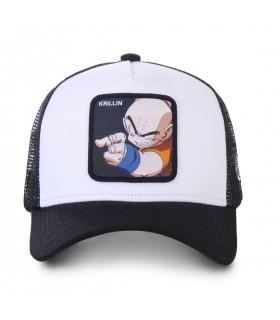 Casquette trucker Capslab Dragon Ball Z Krillin blanc