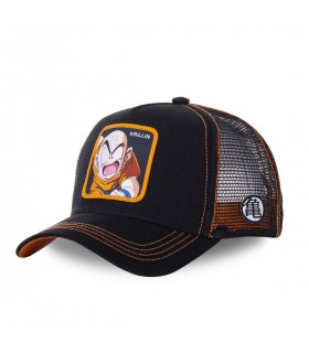 Men's Capslab Dragon Ball Z Krillin Black Trucker Cap