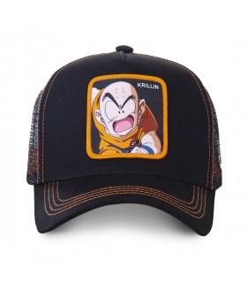 Casquette trucker Capslab Dragon Ball Z Krillin Noir