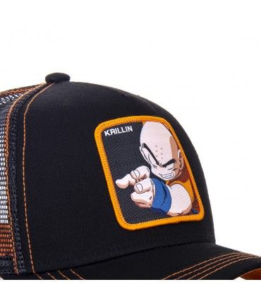 Casquette trucker Capslab Dragon Ball Z Krillin Noir zoom patch