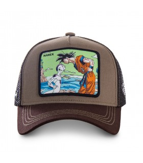 Casquette trucker Capslab Dragon Ball Z Namek Marron