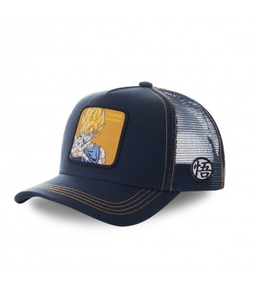 Casquette trucker Capslab Dragon Ball Z Super saiyan Noir