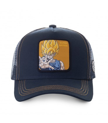 Casquette trucker Capslab Dragon Ball Z Super sayan Noir vue de face