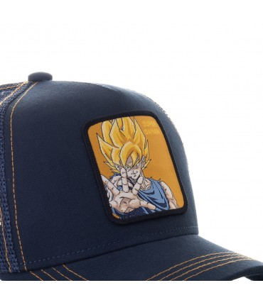 Casquette trucker Capslab Dragon Ball Z Super sayan Noir zoom patch