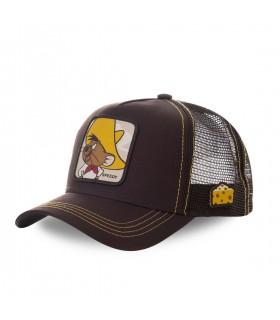 Casquette trucker Capslab Looney Tunes Speedy Gonzales Marron