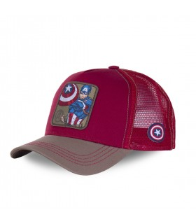 Marvel Captain America Red Trucker Cap