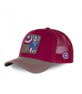 Men's Capslab Marvel Captain America Red Trucker Cap
