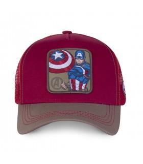 Marvel Captain America Red Trucker Cap