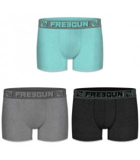 Boxers homme coton Packx3 Freegun E1