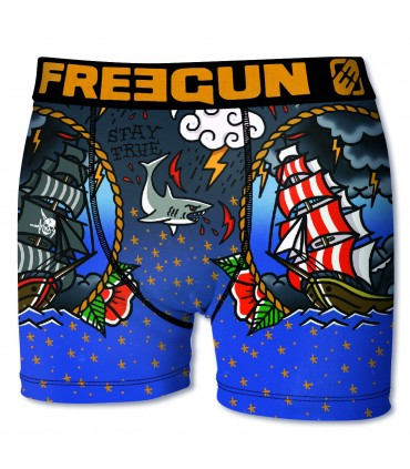 Boxer Homme Freegun Pirate Gris