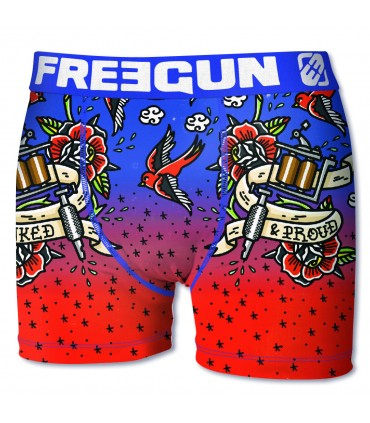 Lot de 5 Boxers Homme Freegun Old School Multicolore