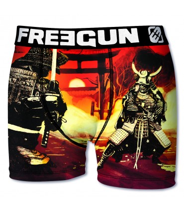 Boxer homme en microfibre Sam Freegun Multicoloree