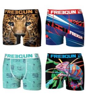 Boxers homme microfibre Packx4 Freegun E2