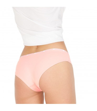 Women's Soft Touch Black and Orange Boxers