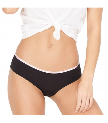 Women's Soft Touch Black and Pink Boxers