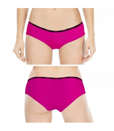 Girl's Soft Touch Black and Pink Boxers