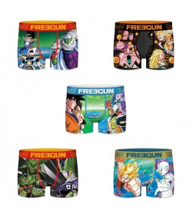 Lot de 5 boxers homme dragon ball z freegun