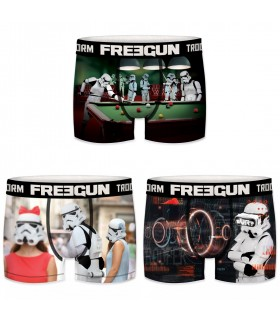 Pack de 3 boxers homme Freegun Stormtrooper G1