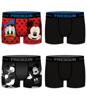 Lot de 4 boxers homme disney freegun