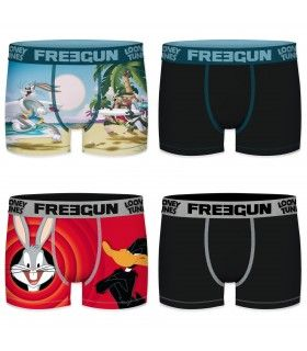 Lot de 4 boxers homme looney tunes freegun